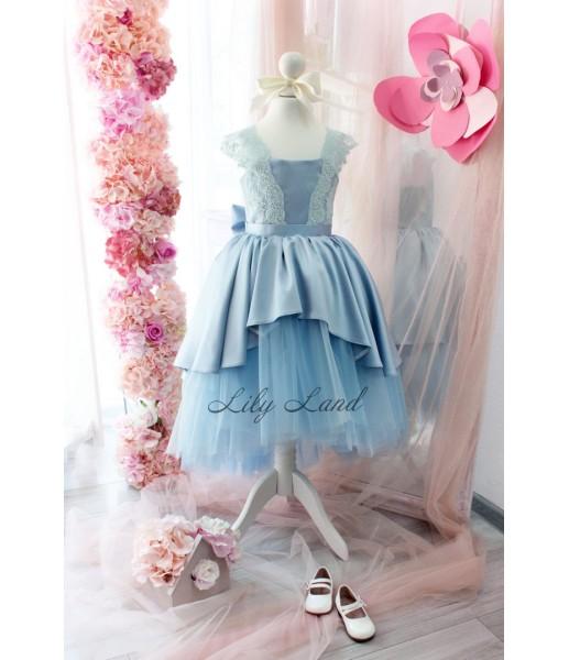 Детское платье Офелия, цвет голубой