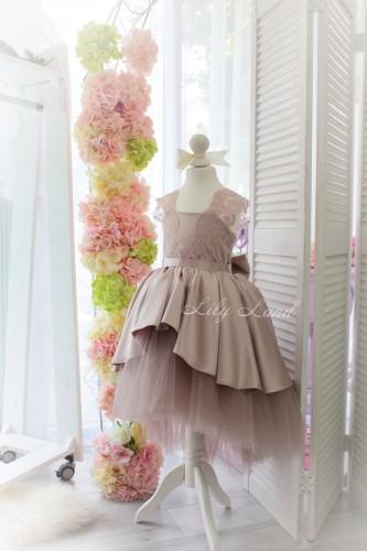 Детское платье Офелия, цвет капучино