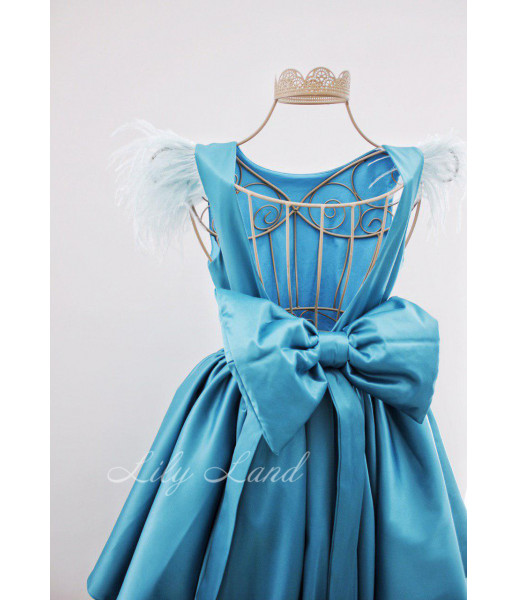 Детское платье Офелия , цвет бирюза