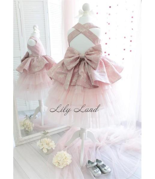 Детское платье 001, цвет нежно розовый