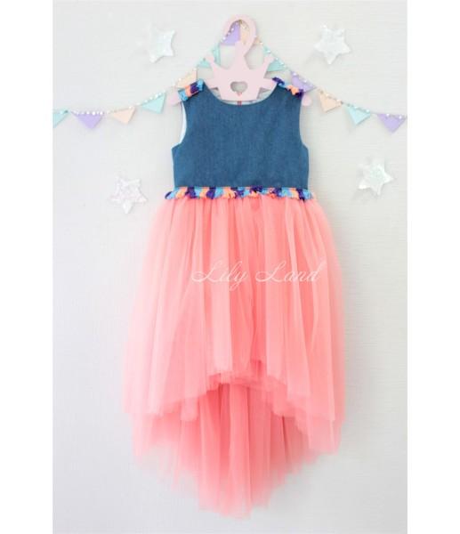 Детское летнее платье, цвет персик