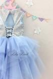 Детское платье 007, цвет голубой