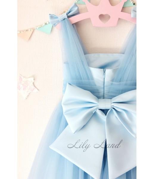 Детское платье Синдерелла, цвет голубой