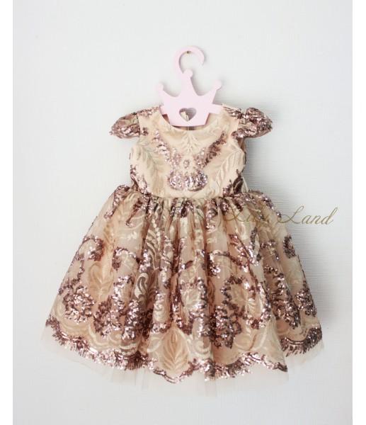 Детское платье Сильвия, цвет капучино