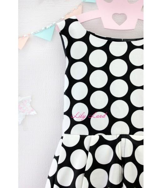 Детское платье Валенсия, цвет черный и белый