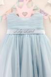 Детское платье Зефирное облако, цвет голубой