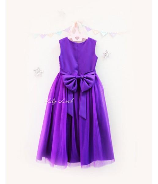 Детское платье Зефирное облако, цвет баклажан