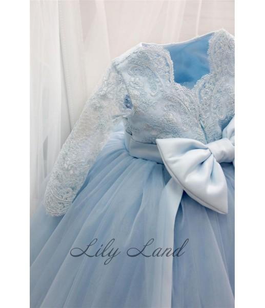 Детское платье Мелисса, цвет голубой