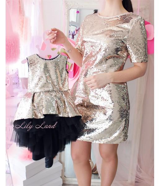 Комплект платьев Футляр, цвет золото и черный