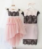 Комплект платьев Винтажное кружево, цвет пудра