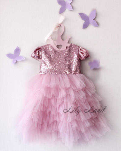 Детское платье , цвет розовый