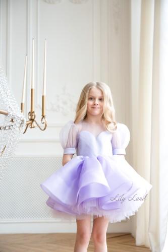 Детское нарядное платье Алиса, цвет лаванда