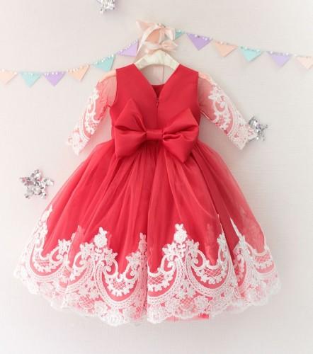 Детское платье Амели, цвет красный