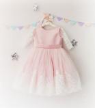 Детское платье Амели, в цвете розовый