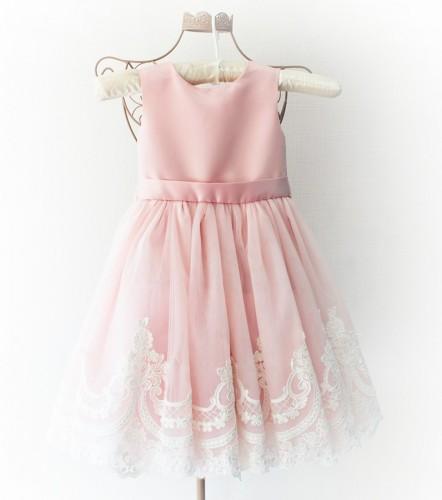 Детское платье Амели, цвет розовый