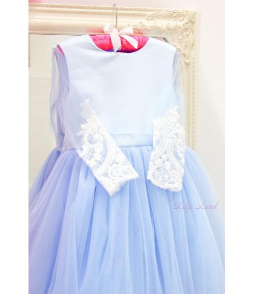 Детское платье Амели, цвет голубой