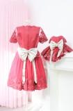 Комплект платьев Амели, цвет бордо