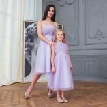 Комплект нарядных  платьев Зефирное облако ,лаванда
