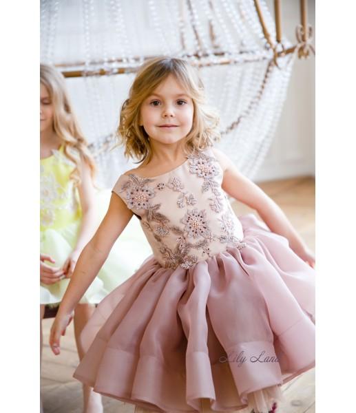 Детское нарядное платье Аннет, цвет капучино