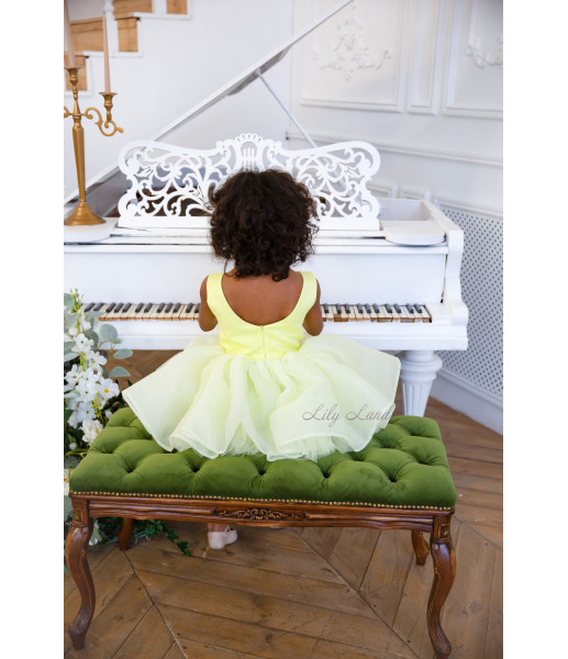 Детское нарядное платье Аннет, цвет желтый