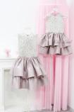 Комплект нарядных платьев Ариэль цвет беж