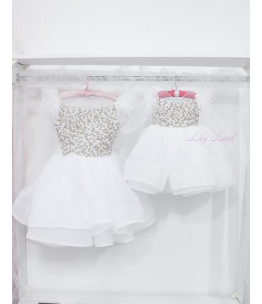 Комплект нарядных платьев Ариэль цвет белый