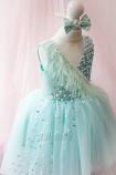 Детское нарядное платье Ариэль, цвет мятный