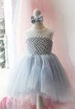 Детское нарядное платье Ариэль, цвет небесно голубой