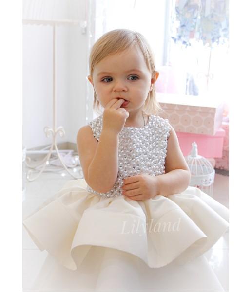 Детское нарядное платье Ариэль, цвет айвори