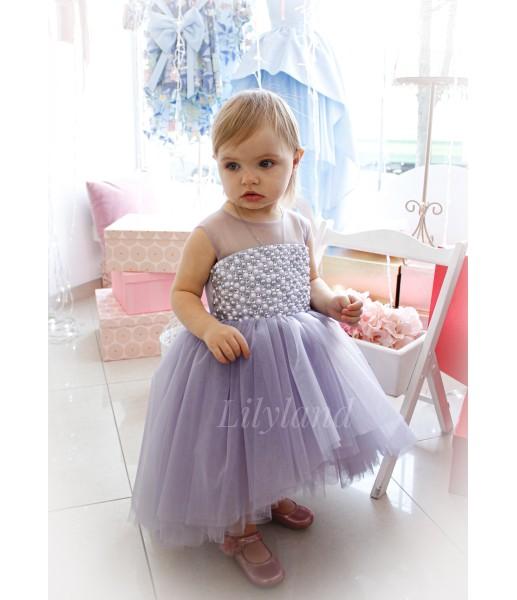 Детское нарядное платье Ариэль, цвет лаванда