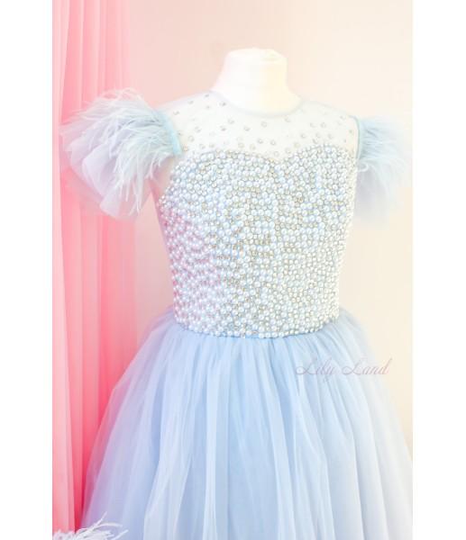 Комплект нарядных платьев Ариэль цвет голубой