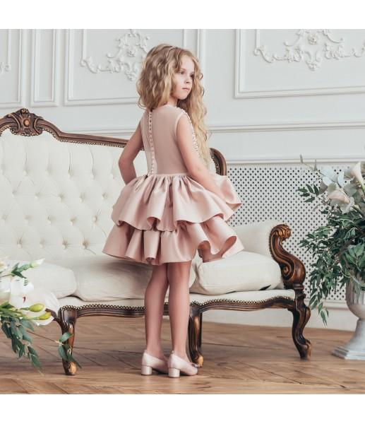 Детское нарядное платье Ариэль, цвет бежевый