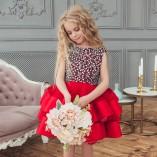 Детское нарядное платье Ариэль, цвет красный