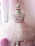 Детское нарядное платье Ариэль, цвет розовый