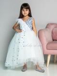 Детское нарядное платье Ариэль, цвет белый