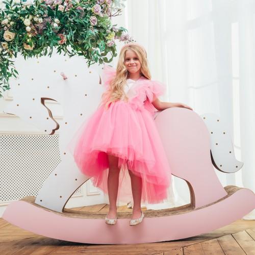 Детское нарядное платье Арин, цвет барби