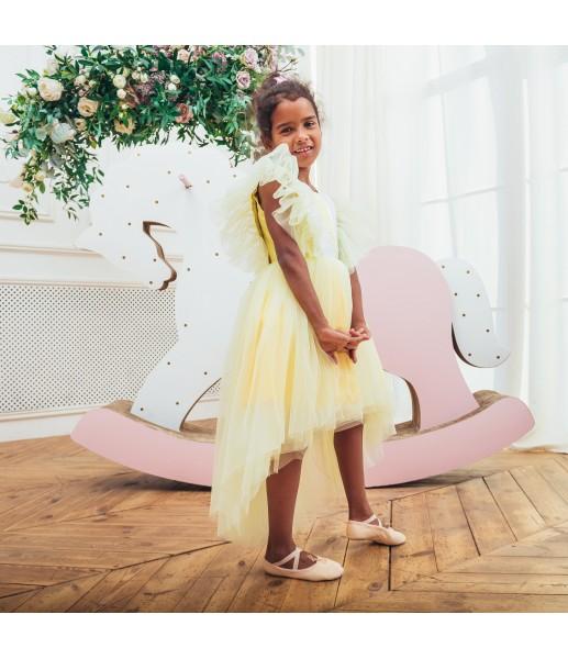 Детское нарядное платье Арин, цвет желтый