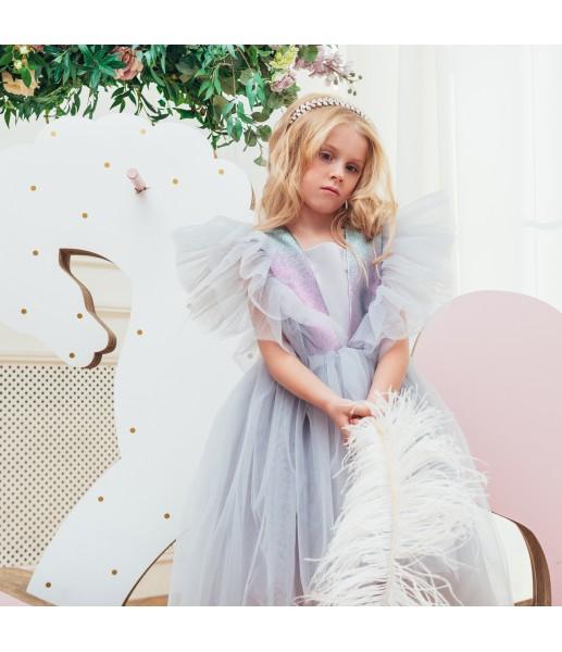 Детское нарядное платье Арин, цвет пыльно серый