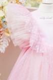 Комплект нарядных платьев Арин цвет нежно розовый в горох