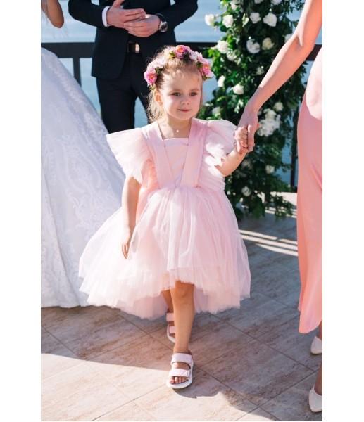 Детское нарядное платье Арин, цвет пудра