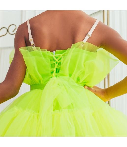 Детское нарядное платье Барби, цвет неон