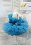 Детское нарядное платье Барби, цвет изумруд