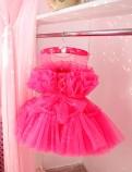Детское нарядное платье Барби, цвет ярко малиновый