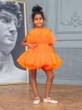 Детское нарядное платье Барби, цвет оранж
