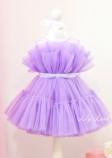 Детское нарядное платье Барби, цвет фиолет
