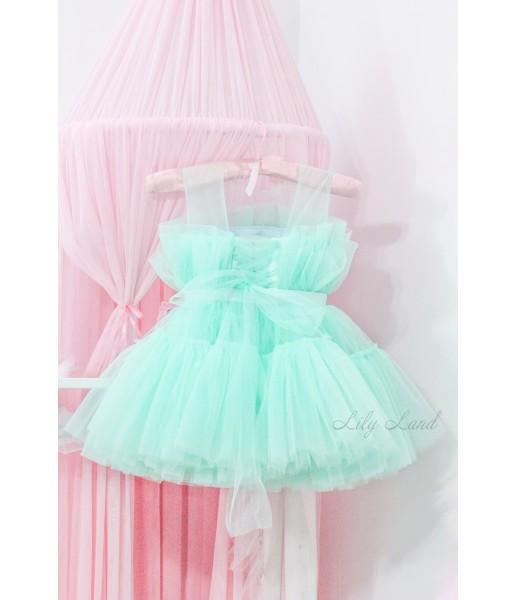 Детское нарядное платье Барби, цвет мята