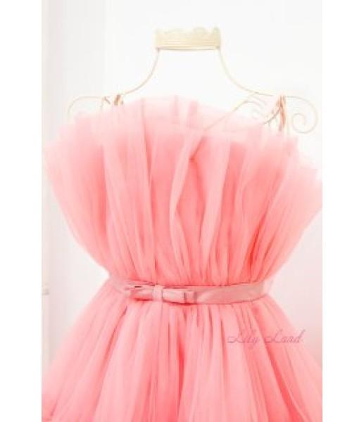 Детское нарядное платье Барби, цвет персик