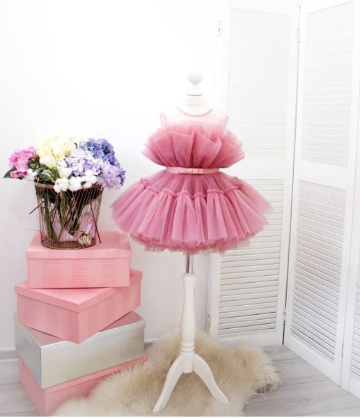 Детское нарядное платье Барби, цвет чайная роза