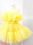 Детское нарядное платье Барби, цвет желтый