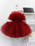 Детское нарядное платье Барби, цвет бордо
